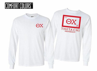 Theta Chi Flag Long Sleeve T-shirt - Comfort Colors