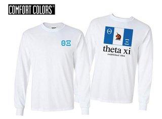 Theta Xi Flag Long Sleeve T-shirt - Comfort Colors