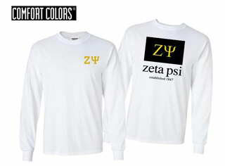Zeta Psi Flag Long Sleeve T-shirt - Comfort Colors