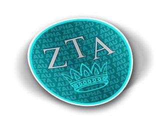 Zeta Tau Alpha Mascot Round Decals