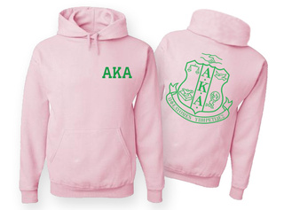 AKA World Famous Crest - Shield Hooded Sweatshirt- $35! - MADE FAST!