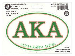 Alpha Kappa Alpha Euro Style Sticker