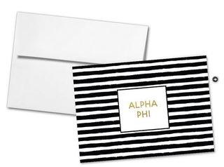 Alpha Phi Striped Notecards(6)