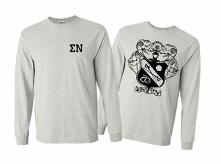 Sigma Nu World Famous Crest - Shield Long Sleeve T-Shirt- $19.95!