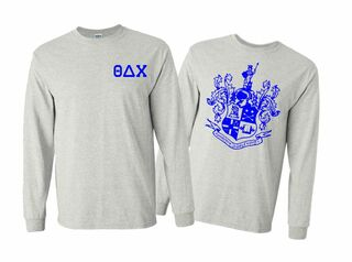 Theta Delta Chi World Famous Crest - Shield Long Sleeve T-Shirt- $19.95!