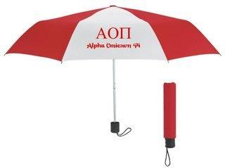 Alpha Omicron Pi Budget Telescopic Umbrella