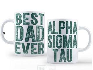 Alpha Sigma Tau Best Dad Ever Coffee Mug