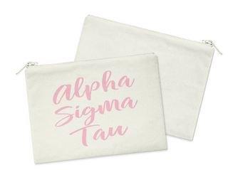 Alpha Sigma Tau Script Cosmetic Bag