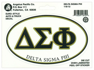 Delta Sigma Phi Euro Decal Oval Sticker