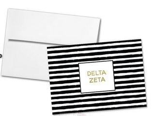 Delta Zeta Striped Notecards(6)