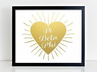 Pi Beta Phi Heart Burst Foil Print