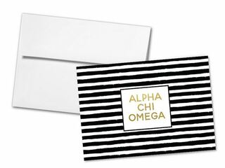 Alpha Chi Omega Striped Notecards(6)