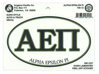 Alpha Epsilon Pi Euro Decal Oval Sticker