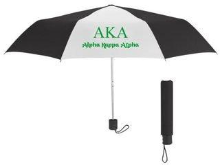 Alpha Kappa Alpha Budget Telescopic Umbrella
