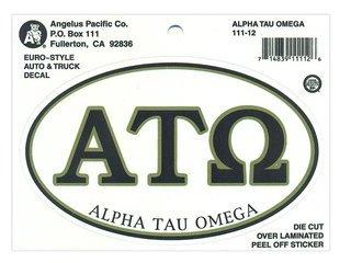 Alpha Tau Omega Euro Decal Oval Sticker