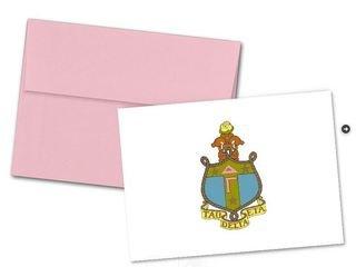 Delta Gamma Color Crest - Shield Notecards(6)