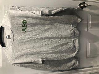 New Super Savings - Alpha Epsilon Phi World Famous Crest - Shield Crewneck Sweatshirt - LIGHT GREY