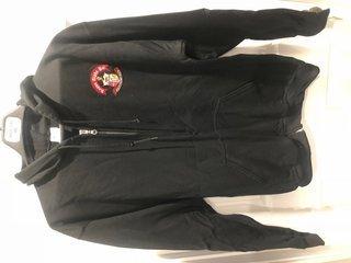 New Super Savings - Kappa Alpha Psi Emblem Full Zippered Hoodie - BLACK