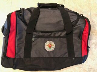New Super Savings - Pi Kappa Alpha Metro Duffel Bag - RED AND BLACK