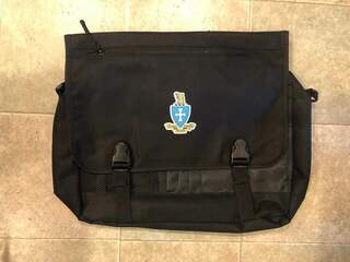 New Super Savings - Sigma Chi Messenger Briefcase - BLACK