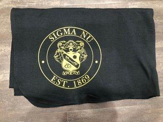 New Super Savings - Sigma Nu Sweatshirt Blanket - BLACK