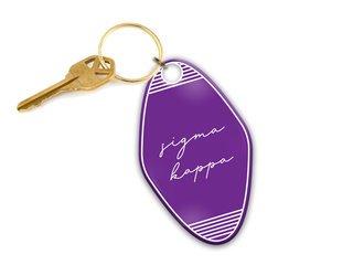 Sigma Kappa Script Motel Keychain