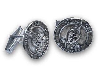 Sterling Fraternity Crest - Shield Cufflinks