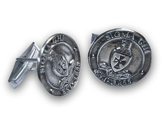 Sterling Fraternity Crest - Shield Cufflinks