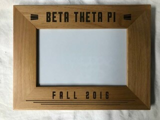 "Super Savings - Beta Theta Pi 4"" x 6"" Stripes Custom Picture Frame - WOOD"