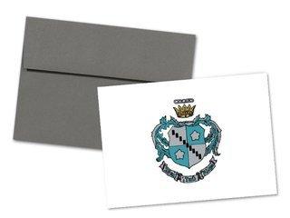 Zeta Tau Alpha Color Crest - Shield Notecards(6)