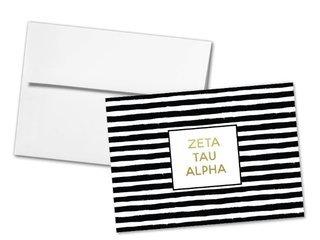 Zeta Tau Alpha Striped Notecards(6)
