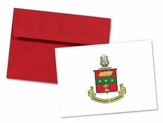 Alpha Chi Omega Color Crest - Shield Notecards(6)
