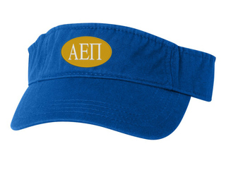 Alpha Epsilon Pi Greek Oval Heavy Visor