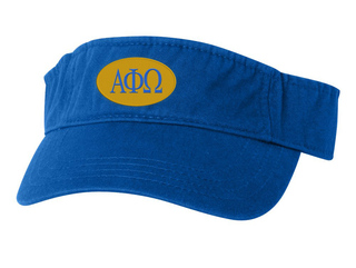 Alpha Phi Omega Greek Oval Heavy Visor