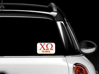 Chi Omega Custom Sticker - Personalized