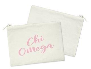 Chi Omega Script Cosmetic Bag