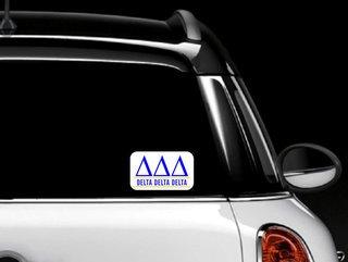 Delta Delta Delta Custom Sticker - Personalized