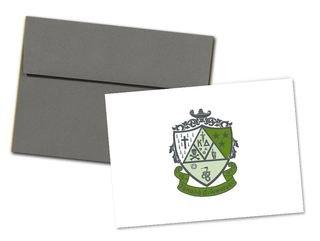 Kappa Delta Color Crest - Shield Notecards(6)