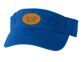 Kappa Delta Rho Greek Oval Heavy Visor