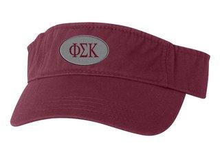 Phi Sigma Kappa Greek Oval Heavy Visor