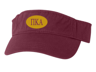 Pi Kappa Alpha Greek Oval Heavy Visor
