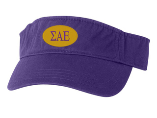 Sigma Alpha Epsilon Greek Oval Heavy Visor
