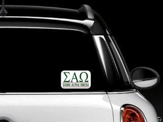 Sigma Alpha Omega Custom Sticker - Personalized