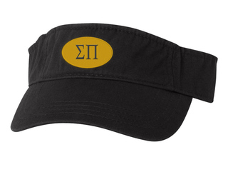 Sigma Pi Greek Oval Heavy Visor