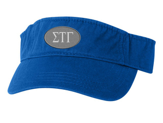 Sigma Tau Gamma Greek Oval Heavy Visor