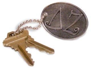Sorority Key Ring Purse Tag