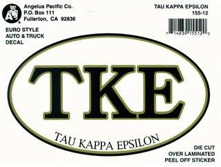 Tau Kappa Epsilon Oval Euro Decal