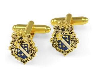 Alpha Phi Omega Color Crest - Shield Cuff links-ON SALE!