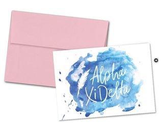 Alpha Xi Delta Watercolor Script Notecards(6)
