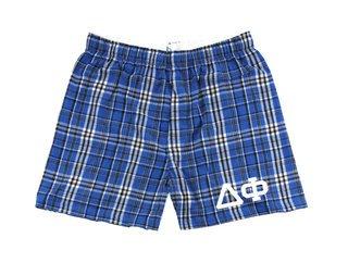 Delta Phi Flannel Boxer Shorts
